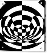 Op Art 2 Acrylic Print by Methune Hively