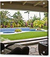 Open Air Luxury Patio Acrylic Print