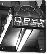 Open For Business Bw Acrylic Print