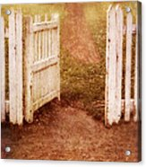 Open Gate To Cottage Acrylic Print