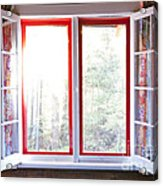 Open Window In Cottage Acrylic Print by Elena Elisseeva