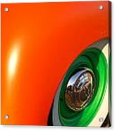 Orange And Green Acrylic Print