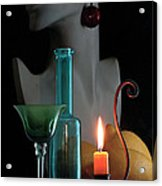 Orange Candle Acrylic Print