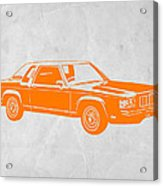 Orange Car Acrylic Print by Naxart Studio