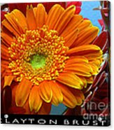 Orange Floral Acrylic Print
