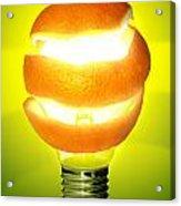 Orange Lamp Acrylic Print