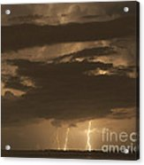 Orange Lightning Acrylic Print