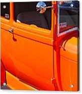 Orange Passenger Door Acrylic Print