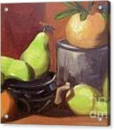 Orange Pears Acrylic Print by Lilibeth Andre