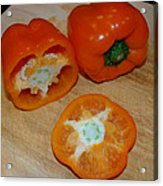 Orange Peppers Acrylic Print