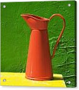 Orange Pitcher Acrylic Print by Garry Gay