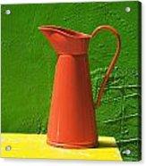 Orange Pitcher Acrylic Print