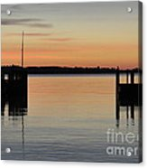 Orange September River Acrylic Print
