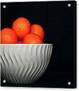 Orange Still Life Acrylic Print