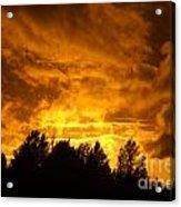Orange Stormy Skies Acrylic Print