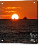 Orange Sunset II Acrylic Print