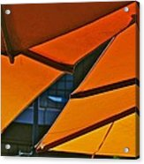 Orange Umbrella Abstract Acrylic Print