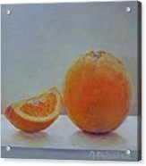 Orange un Quart Acrylic Print
