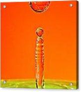 Orange Water Acrylic Print