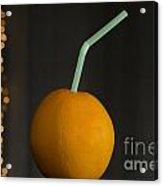 Orange With Straw Acrylic Print