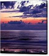 Oregon - Lincoln City Sunset Acrylic Print by Terry Elniski
