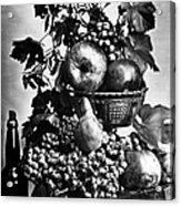 Oregon: Wine & Grapes Acrylic Print