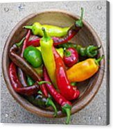 Organic Colorful Peppers Acrylic Print