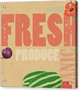 Organic Fresh Produce Poster Illustration Acrylic Print by Don Bishop