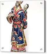 Oriental Lady And Child Acrylic Print