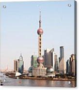 Oriental Pearl Tower In Shanghai Acrylic Print