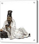 Oriental Warrior At Rest Acrylic Print