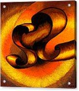 Original Abstract Orange Acrylic Print