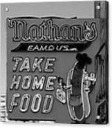 Original Nathan's In Black And White  Acrylic Print
