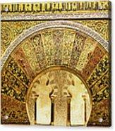 Ornate Mezquita Mihrab In Cordoba Acrylic Print