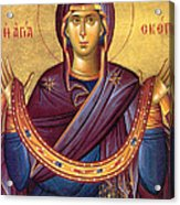 Orthodox Icon Virgin Mary Acrylic Print