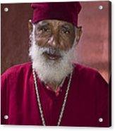 Orthodox Priest Of Addis Ababa Acrylic Print