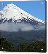 Osorno Volcano Ringed By Clouds Acrylic Print