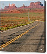 ouest USA route monument valley road Acrylic Print