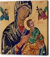Our Mother Of Perpetual Help Acrylic Print