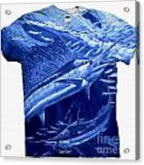 Out Of Sight Mens Blue Shirt Acrylic Print