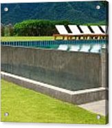 Outdoor Swimming Pool Acrylic Print by Atiketta Sangasaeng