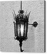Outdoor Wall Lamp Bw Acrylic Print