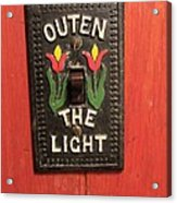 Outen The Light Acrylic Print