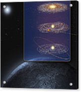 Outer Solar System Formation Acrylic Print