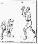Outfielder, 1889 Acrylic Print