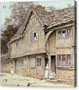 Outside A Timbered Cottage Acrylic Print