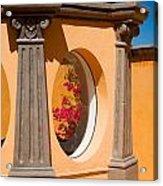 Oval Floral Peek Acrylic Print