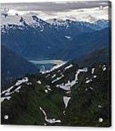 Over Alaska Acrylic Print by Mike Reid