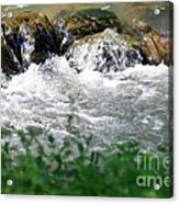 Over The Stones The Water Flows Acrylic Print