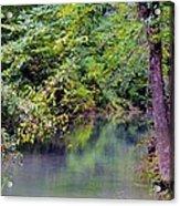 Overcast Reflections At Buck Creek Acrylic Print